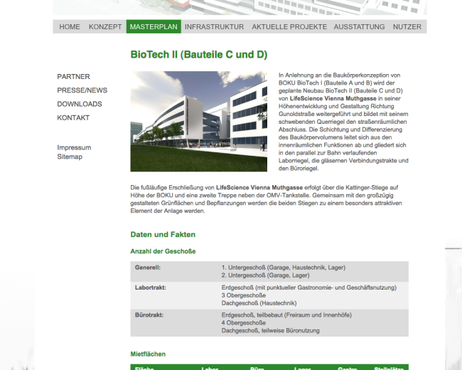 Webseite lifescience-vienna.at