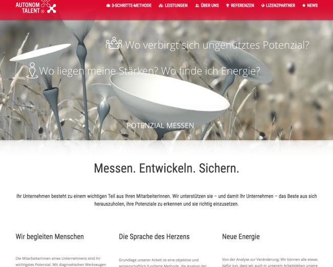 Autonom Talent – Texte für Web
